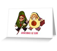 Avocados at law Greeting Card