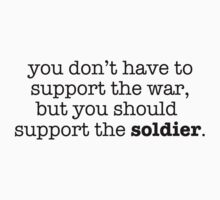 Support The Soldier by bitobots