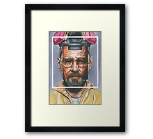 Oil Painting of Heisenberg Framed Print