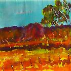Along a country road Woodend VIC Australia by Margaret Morgan (Watkins)