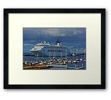 The Cruise Ship Framed Print