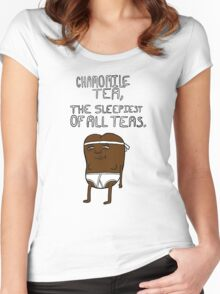 chamomile tea: regular show. Women's Fitted Scoop T-Shirt