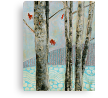 Mosquito Creek, mixed media on board Canvas Print