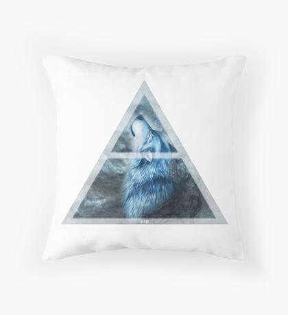 4 Elements - AIR Wolf Throw Pillow