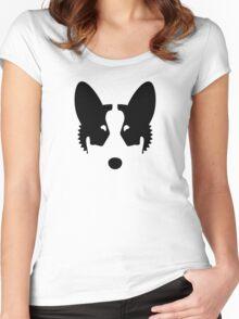 Corgi Ink Blot Women's Fitted Scoop T-Shirt