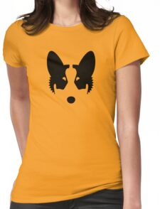Corgi Ink Blot Womens Fitted T-Shirt