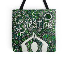 Breathe Buddha Zentangle Tote Bag