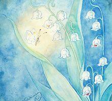 Konwalie z motylkiem by AngelArtiste