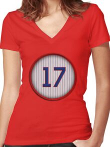 17 - Bryant/Gracie Women's Fitted V-Neck T-Shirt