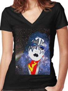 Ace Galaxy shirt Women's Fitted V-Neck T-Shirt