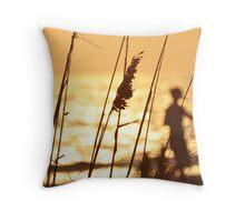 Sunset Sea Oates Throw Pillow