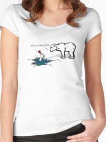 How much does a polar bear weigh? Women's Fitted Scoop T-Shirt
