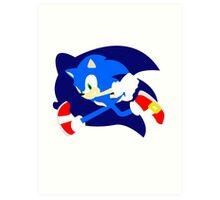 Super Smash Bros Sonic Art Print