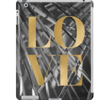 Gold foil LOVE typography iPad Case/Skin