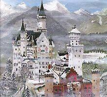 Neuschwanstein Castle Bavaria  by Wilson C. Monteiro