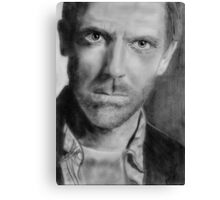 Hugh Laurie (Graphite) Canvas Print