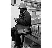 bench man Photographic Print