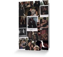 Damon and Elena - The Vampire Diaries Greeting Card