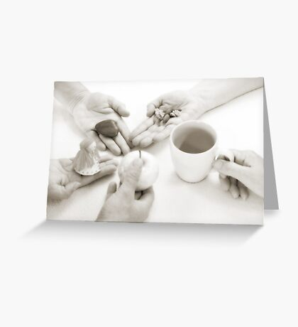 Hands: Sharing Greeting Card