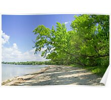 Danube River Bank Poster