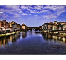 The Arno river in Florence Photographic Print