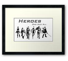 Heroes Landscape (Dark) Framed Print