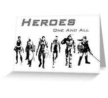 Heroes Landscape (Dark) Greeting Card