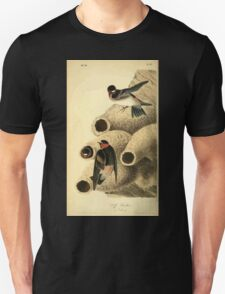 James Audubon Vector Rebuild - The Birds of America - From Drawings Made in the United States and Their Territories V 1-7 1840 - Cliff Swallow T-Shirt