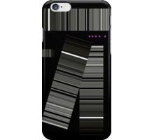 geometric gray and a pink sigh iPhone Case/Skin