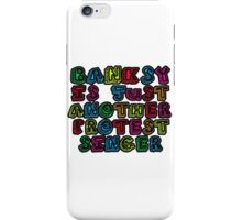Banksy Protest Singer iPhone Case/Skin