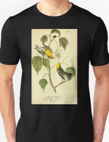 James Audubon Vector Rebuild - The Birds of America - From Drawings Made in the United States and Their Territories V 1-7 1840 - Hemlock Warbler T-Shirt