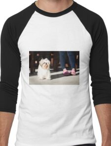 Shih tzu pet Men's Baseball ¾ T-Shirt