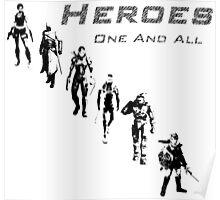 Heroes Square (Dark) Poster