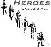 Heroes Square (Dark) Photographic Print
