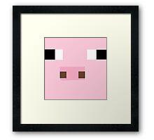 minecraft pig. Framed Print