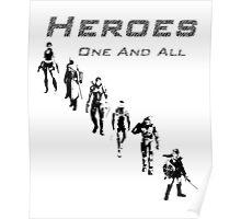 Heroes Portrait (Dark) Poster