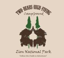 Two-Bears High Fiving Campground by Zombiepan