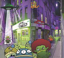 Monster invasion by lochnessart