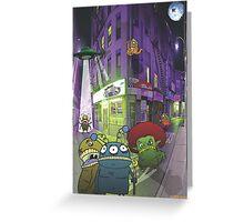 Monster invasion Greeting Card