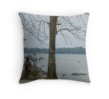 Patchwork Lady Throw Pillow