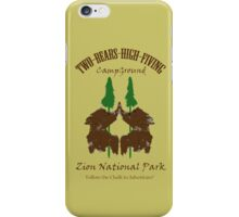 Two-Bears High Fiving Campground iPhone Case/Skin