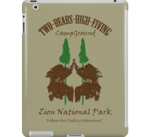 Two-Bears High Fiving Campground iPad Case/Skin