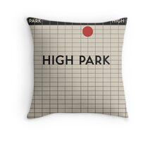 HIGH PARK Subway Station Throw Pillow