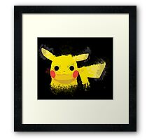 Pikachu Paint Splash Framed Print