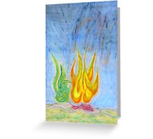 Night Blaze Greeting Card