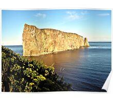 View of Rock Ocean  Poster