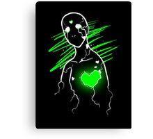 Heartache (Green) Canvas Print