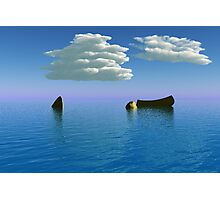 Boat and Sea Photographic Print