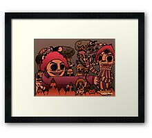 Monsters on the Mountain Framed Print