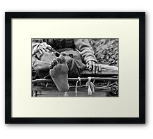 Bare Feet, White Dreams Framed Print